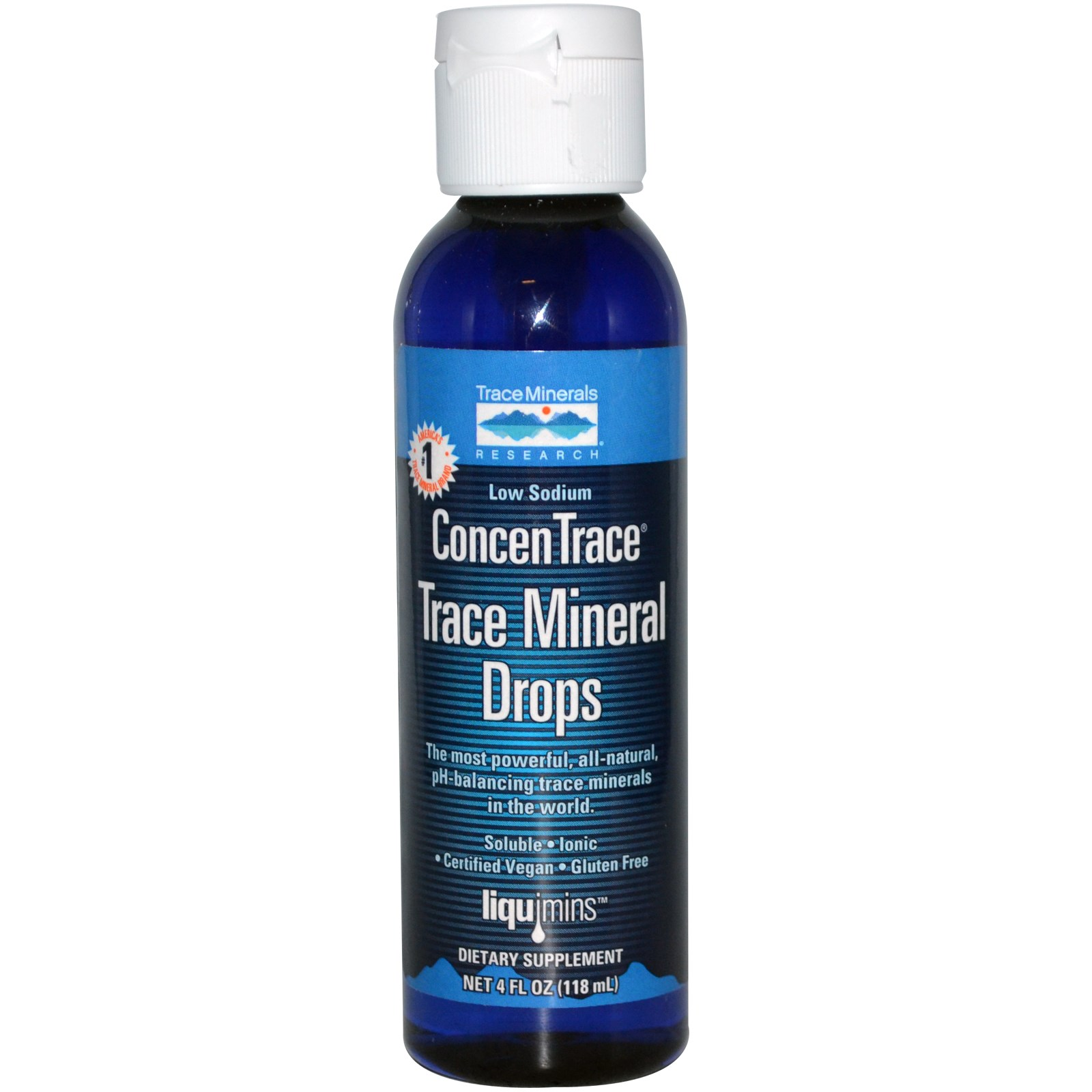 Image of Liquimins, ConcenTrace, Trace Mineral Drops (118 ml) - Trace Minerals Research 0878941000065