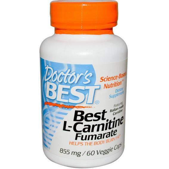 Image of Doctor's Best, Best L-carnitina fumarato 855 mg, 60 Veggie Caps 0753950001060