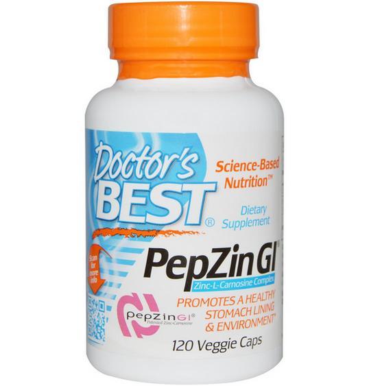 Image of Doctor's Best, PepZin Gl complesso zinco-L-carnosina, 120 Veggie Caps 0753950001367