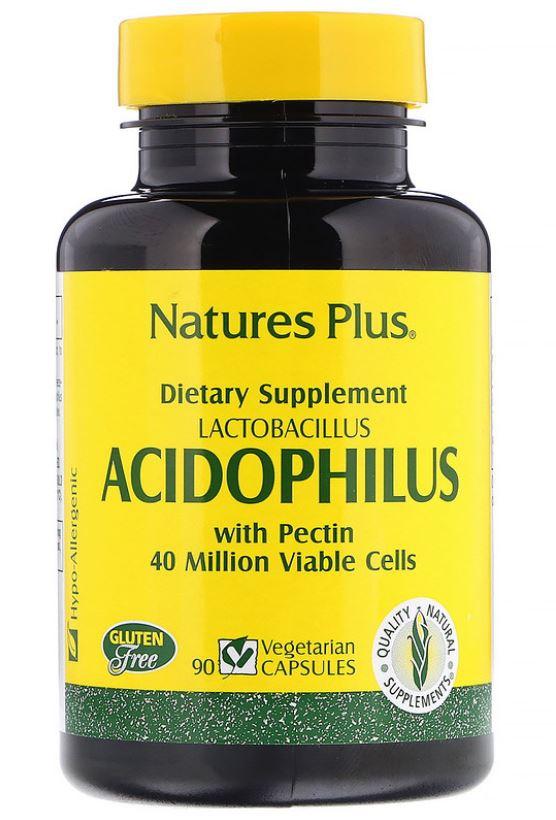 Image of Acidophilus- Lactobacillus (90 Vegetarian Capsules) - Nature's Plus 0097467044807