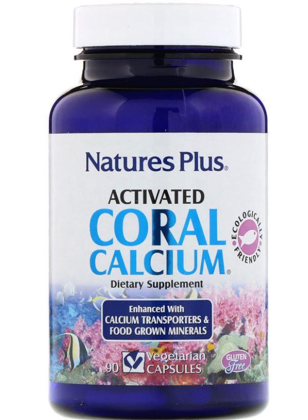 Image of Activated Coral Calcium (90 Vegetarian Capsules) - Nature's Plus 0097467037236