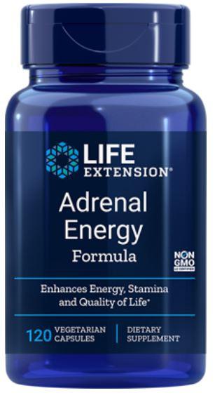 Adrenal Energy Formula (120 Veggie Capsules) Life Extension