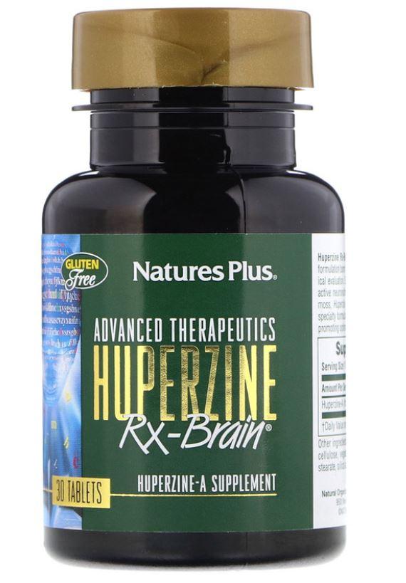 Image of Advanced Therapeutics - Huperzine Rx-Brain (30 Tablets) - Nature's Plus 0097467049819