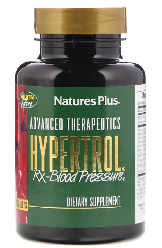 Image of Advanced Therapeutics - Hypertrol RX Blood Pressure (60 Tablets) - Nature's Plus 0097467049970