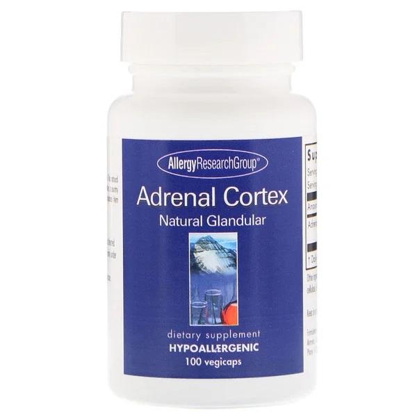 Adrenal Cortex Natural Glandular 100 Vegicaps Allergy Research Group