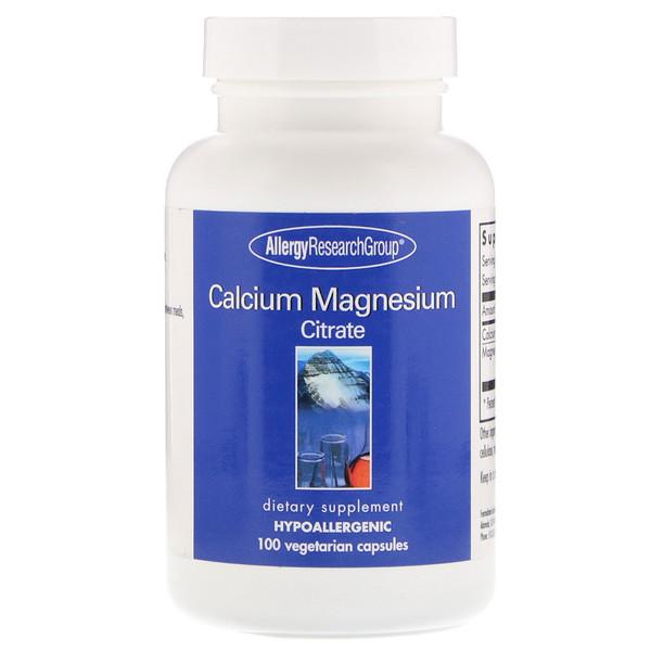 Calcium Magnesium Citrate 100 Vegetarian Capsules Allergy Research Group
