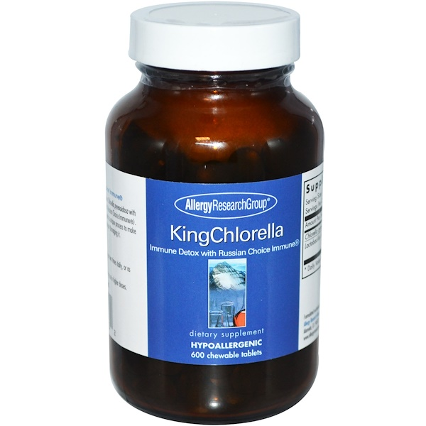 Image of KingChlorella 600 Chewable Tablets - Allergy Research Group 0713947756502