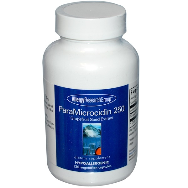 Image of ParaMicrocidin 250 Grapefruit Seed Extract 120 Veggie Caps - Allergy Research Group 0713947715301