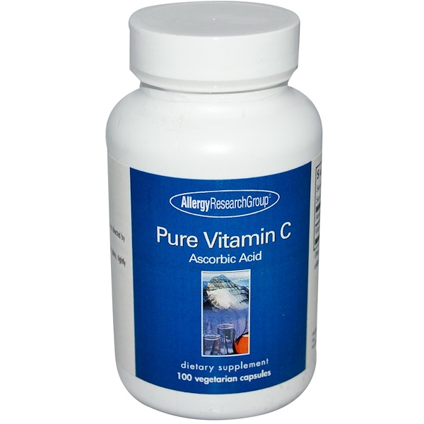 Image of Pure Vitamin C 100 Veggie Caps - Allergy Research Group 0713947700307