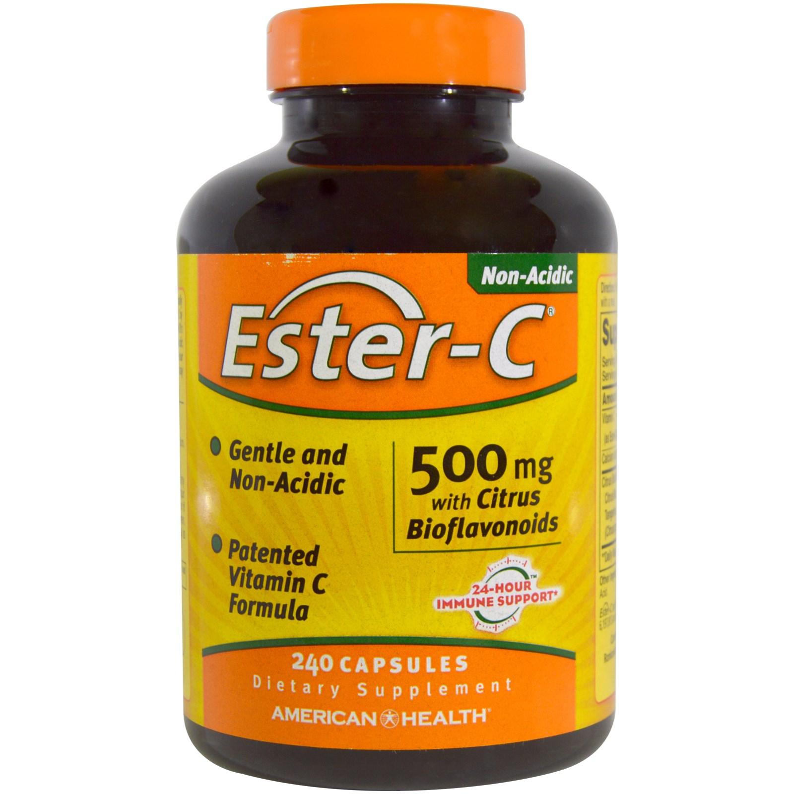 Ester C 500 mg with Citrus Bioflavonoids (240 Capsules) American Health