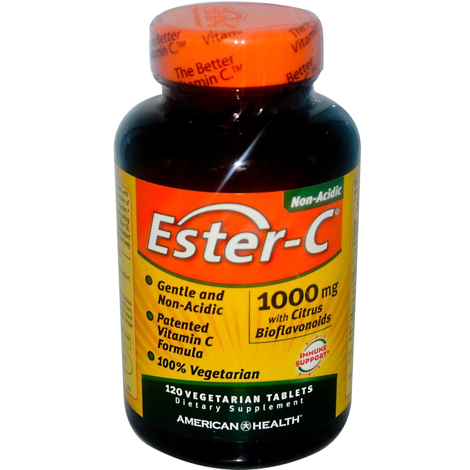 Image of Ester-C- 1000 mg (120 vegetarian tablets) - American Health 0076630169820