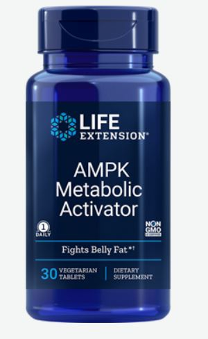 Image of AMPK Metabolic Activator (30 Vegetarian Tablets) - Life Extension 0737870220732