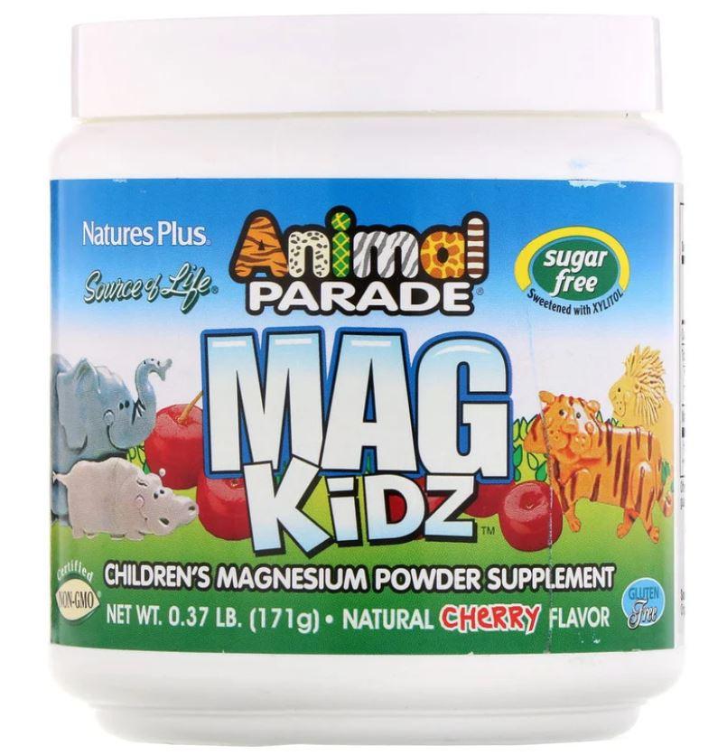 Image of Animal Parade - Mag Kidz - Children's Magnesium - Natural Cherry Flavor (171 grams) - Nature's Plus 0097467299436