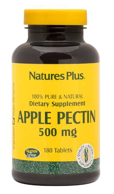 Image of Apple Pectin - 500 mg (180 Tablets) - Nature's Plus 0097467045002