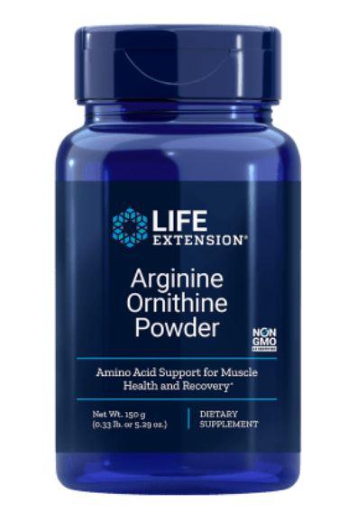 Arginina Ornitina Polvere 150 grammi (5.29 Oz) Life Extension