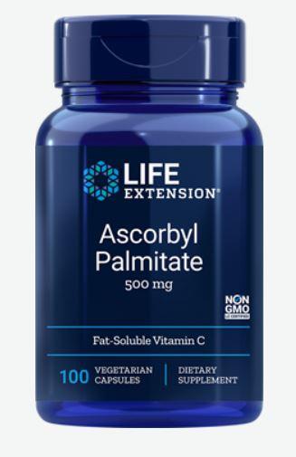 Ascorbyl Palmitate 500 mg (100 Veggie Capsules) Life Extension
