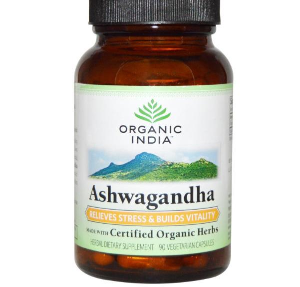 Image of Organic India, organici, Ashwagandha, Veggie 90 Caps 0851469000168