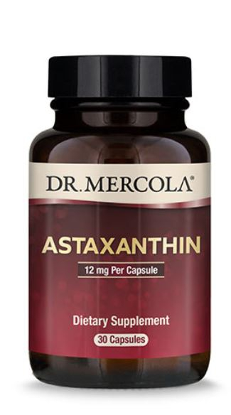 Image of Astaxanthin 12 mg (30 Capsules) - Dr. Mercola 0810487031301