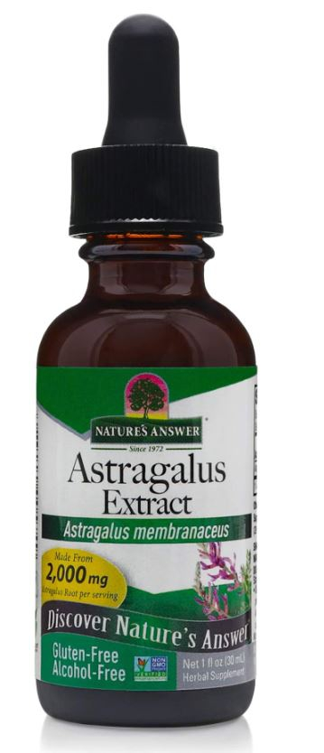 Image of Astragalus, Alcohol-Free, 1000 mg (30 ml) - Nature's Answer 0083000005749
