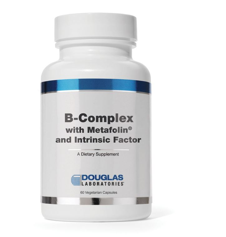 Image of Complesso B w/Metafolin ® e fattore intrinseco (capsule 60 vegetariano) - Douglas Laboratories 8713975991120