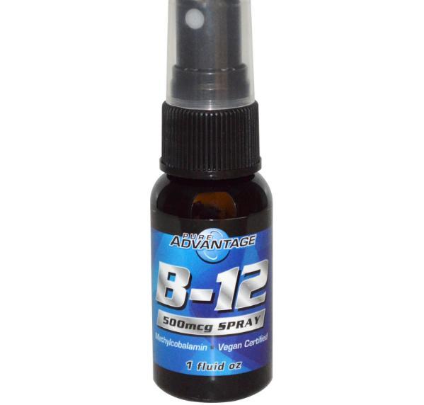 Image of Puro vantaggio, B-12, 500 mcg Spray, 1 fl oz 0646448505129