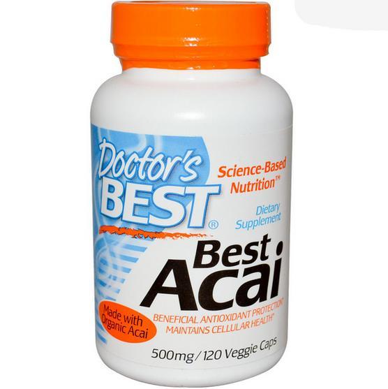 Image of Doctor's Best, Best Acai, 500 mg, 120 Veggie Caps 753950001565