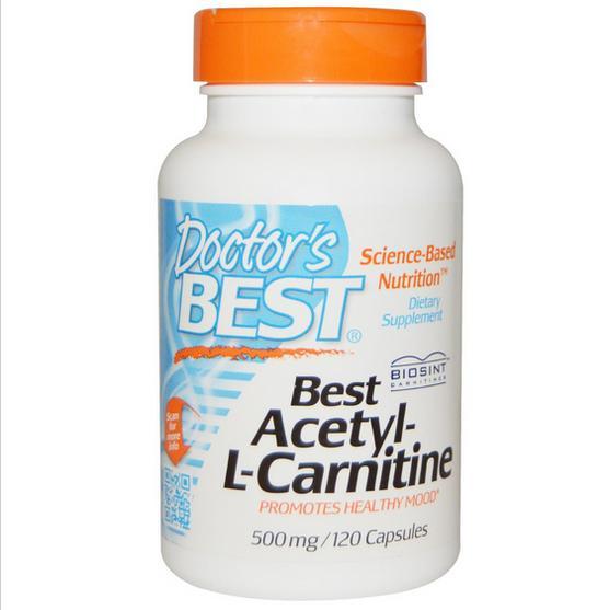 Image of Doctor's Best, Best acetil-L-Carnitina 500 mg, 120 capsule 0753950001527