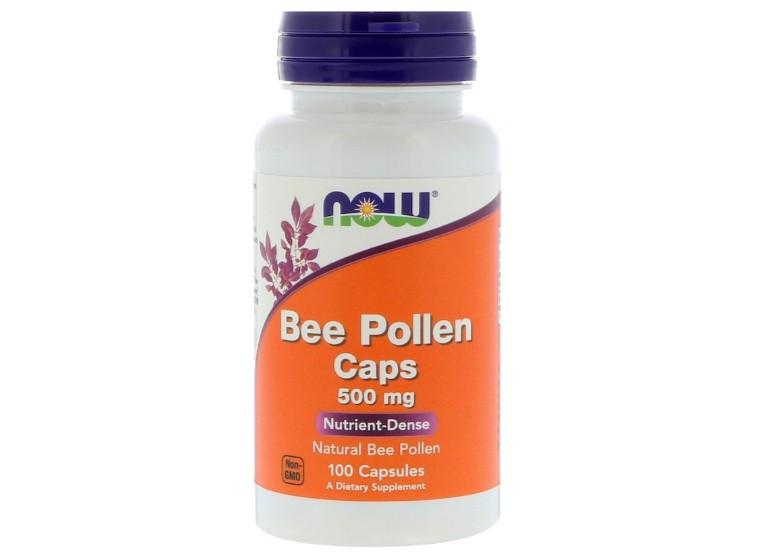 Bee Pollen Caps 500 mg (100 Capsules) Now Foods