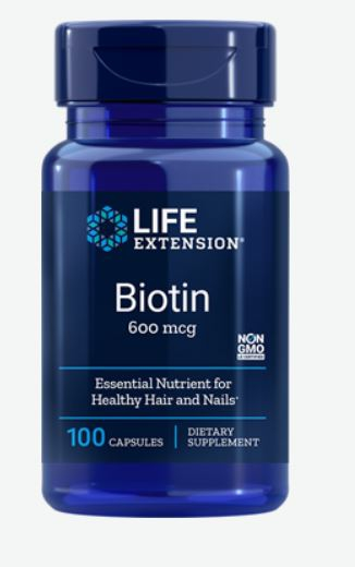 Image of Biotina 600 mcg - 100 Capsule - Life Extension 0737870102106