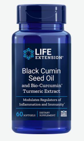 Life Extension, Olio di semi di cumino nero con bio curcumina, 60 capsule