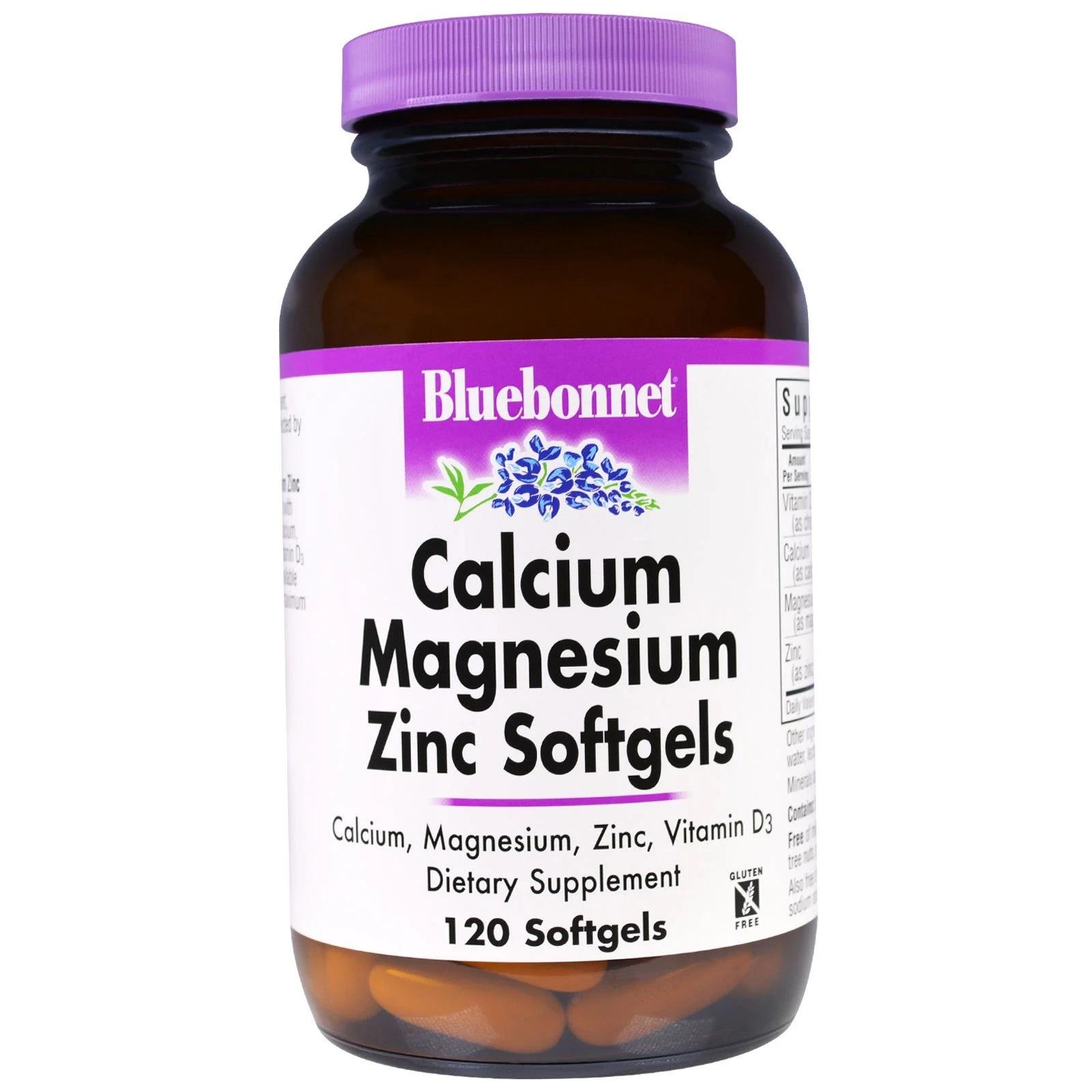 Calcium Magnesium Zinc (120 softgels) Bluebonnet Nutrition
