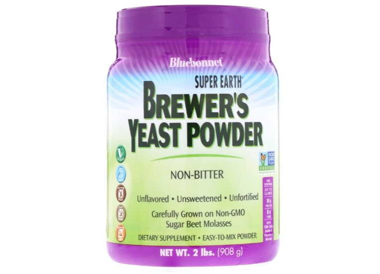Image of Super Earth Brewer's Yeast Unflavored (908 g) - Bluebonnet Nutrition 0743715012028
