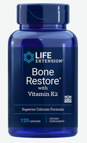 Image of Life Extension, Ripristino dell'osso, vitamina K2, 120 capsule 0737870172710