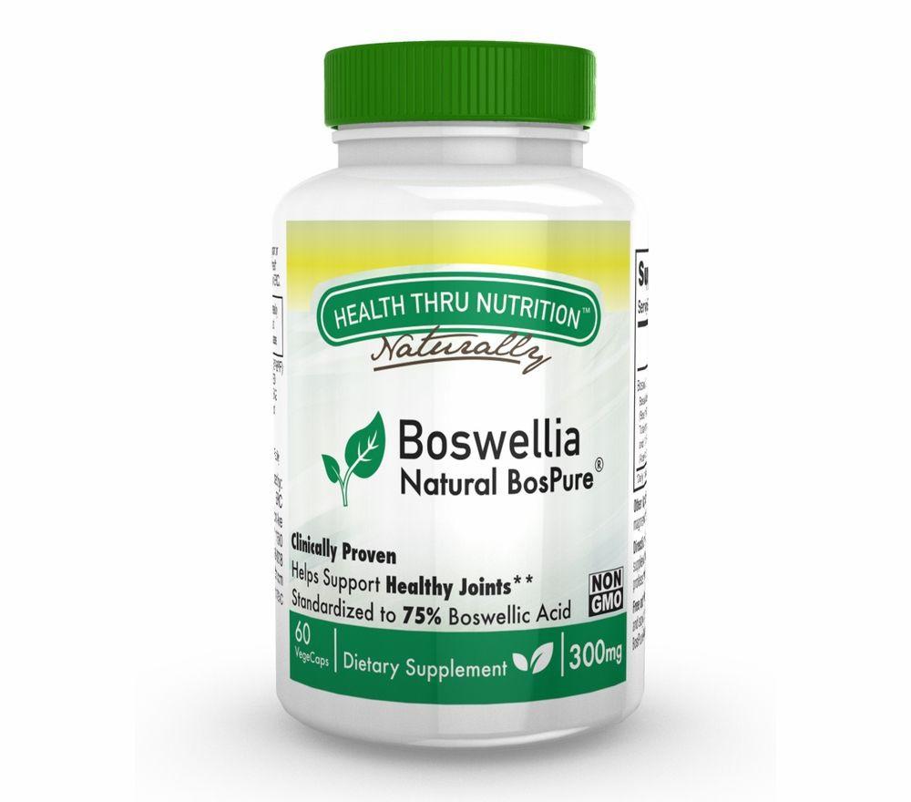 Image of Boswellia BosPure 300 mg (non-GMO) (60 Vegicaps) - Health Thru Nutrition 0819193020081
