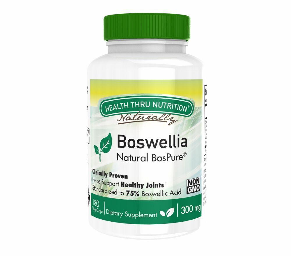 Image of Boswellia BosPure 300 mg (non-GMO) (180 Vegicaps) - Health Thru Nutrition 0819193020098
