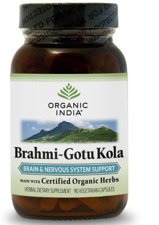 Image of Brahmi-Gotu Kola (90 Veggie Caps) - Organic India 0851469000397