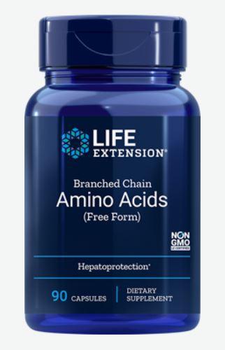 Image of Amino Acidi Di Catena Ratificata - 90 Capsule - Life Extension 0737870125396