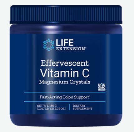 Vitamina C Effervescente Cristalli Di Magnesio, Peso Netto 180 G Life Extension