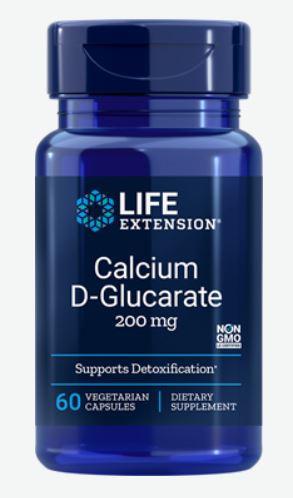 Image of Calcium D-Glucarate 200 mg (60 Veggie Capsules) - Life Extension 0737870165163
