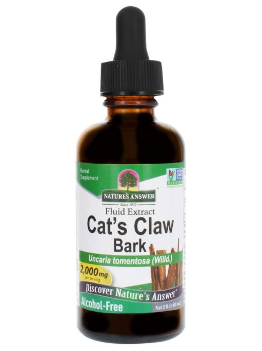 Image of Cat's Claw Inner Bark, Alcohol-Free, 2000 mg (60 ml) - Nature's Answer 0083000005855
