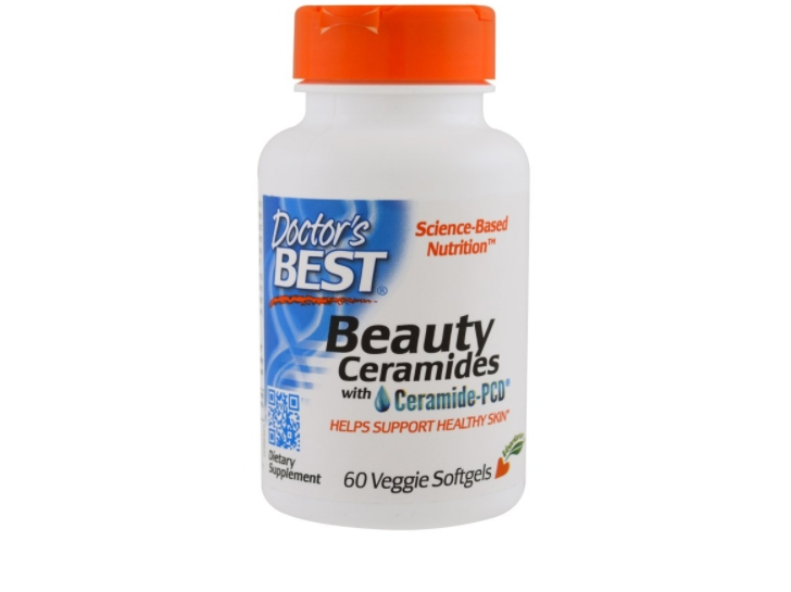 Image of Beauty Ceramides with Ceramide-PCD (60 Veggie Caps) - Doctor's Best 0753950004658