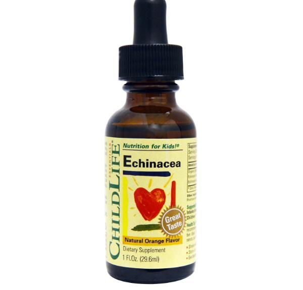 Image of ChildLife Essentials, Echinacea, aroma naturale di arancia, 1 fl oz (29,6 ml) 0608274101005