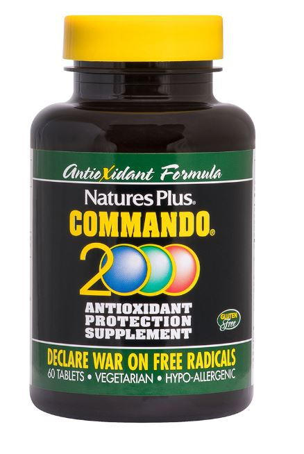 Image of Commando 2000 Antioxidant Protection (90 Tablets) - Nature's Plus 0097467049666