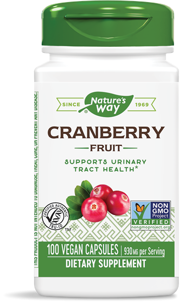 Image of Cranberry Fruit 465 mg (180 Vegetarian Capsules) - Nature's Way 0033674153611