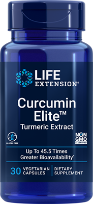 Image of Curcumin Elite Tumeric Extract 400 mg (30 Veggie Caps ) - Life Extension 0737870246732