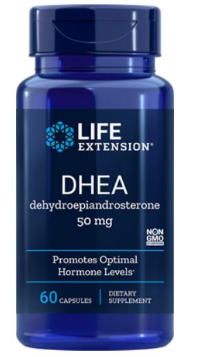 Image of DHEA 50 mg (60 Capsules) - Life Extension 0737870882060