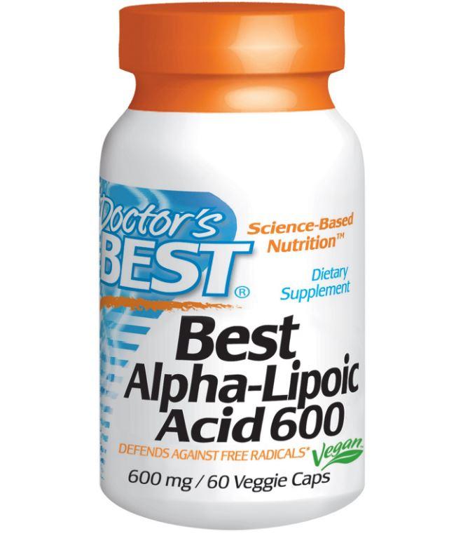 Image of Doctor's Best, Best Alpha-Lipoic Acid, 600 mg, 60 Veggie Caps 0753950001336