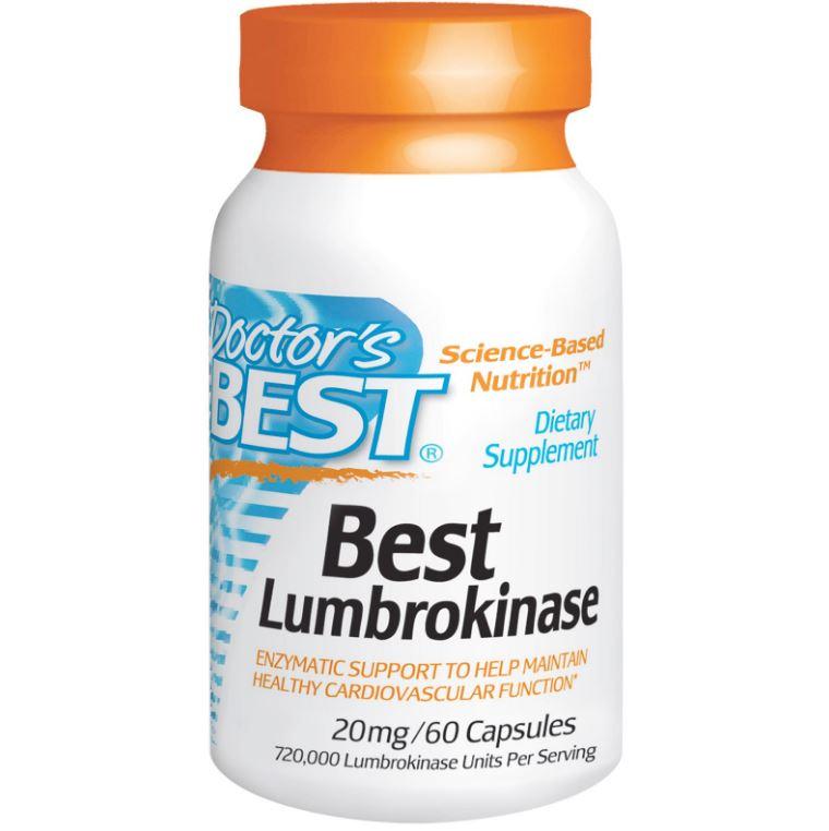 Image of Doctor's Best, Best Lumbrokinase 20 mg, 60 capsule 0753950001817