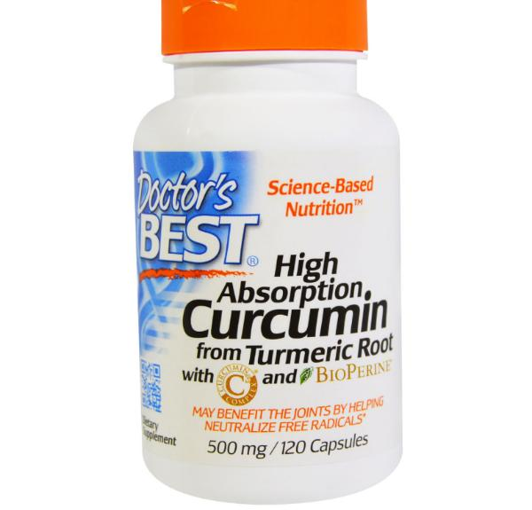 Image of Doctor's Best, Best Curcumin C3 Complex, 500 mg, 120 Capsules 0753950001077