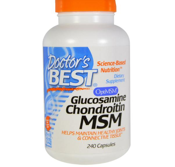 Image of Doctor's Best, Glucosamine Chondroitin MSM, 240 Capsules 0753950000810